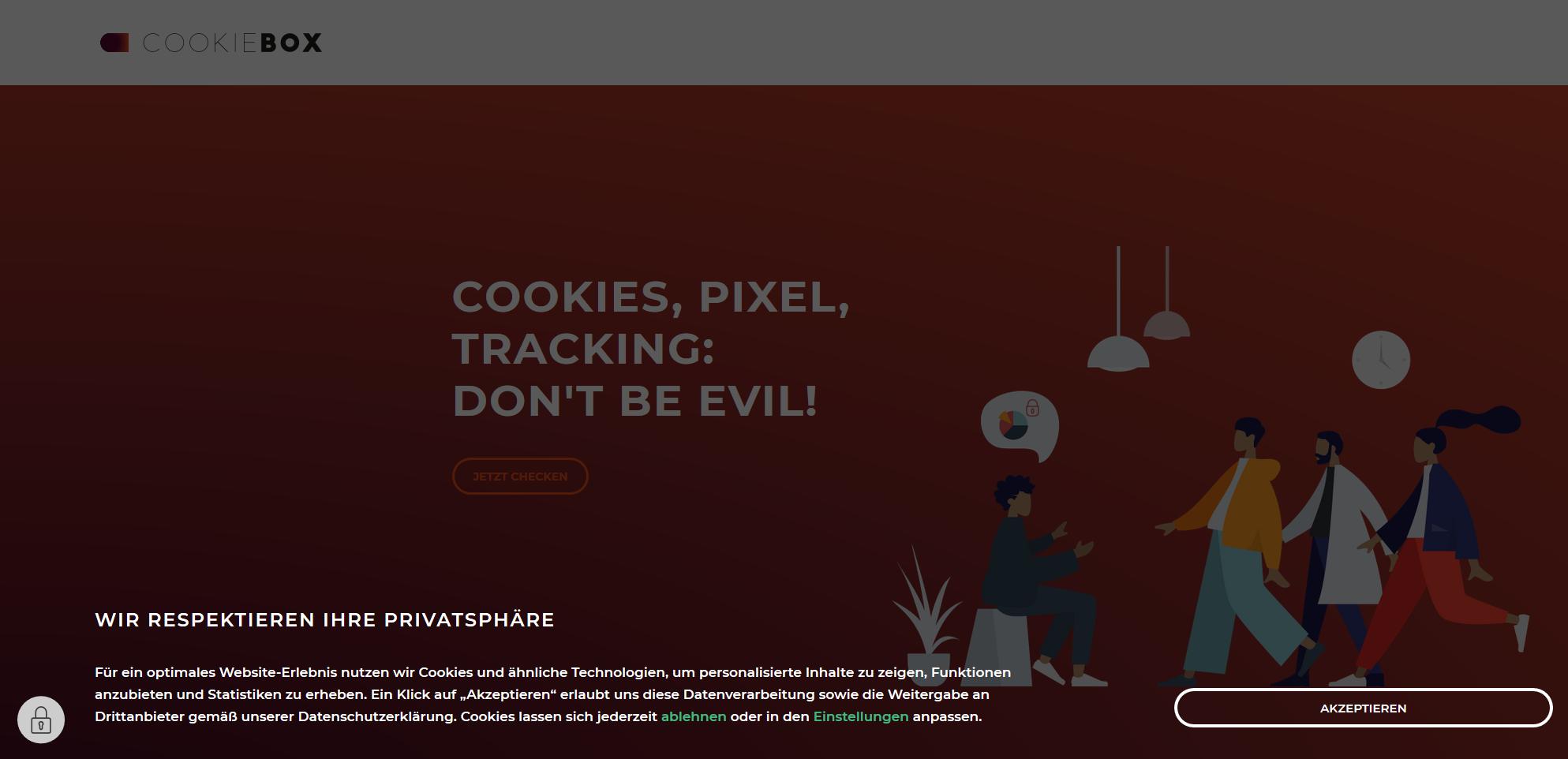 Consent Lösung von Cookiebox