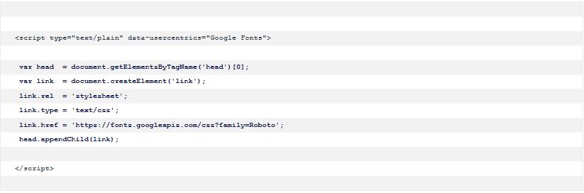 Google Fonts Skript anpassen