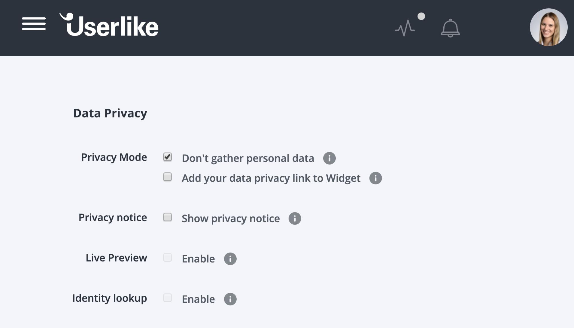 Userlike_Einstellungen