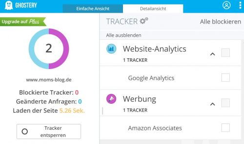 Cookies via Ghostery ausfindig machen